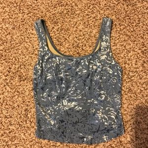 Blue detailed top